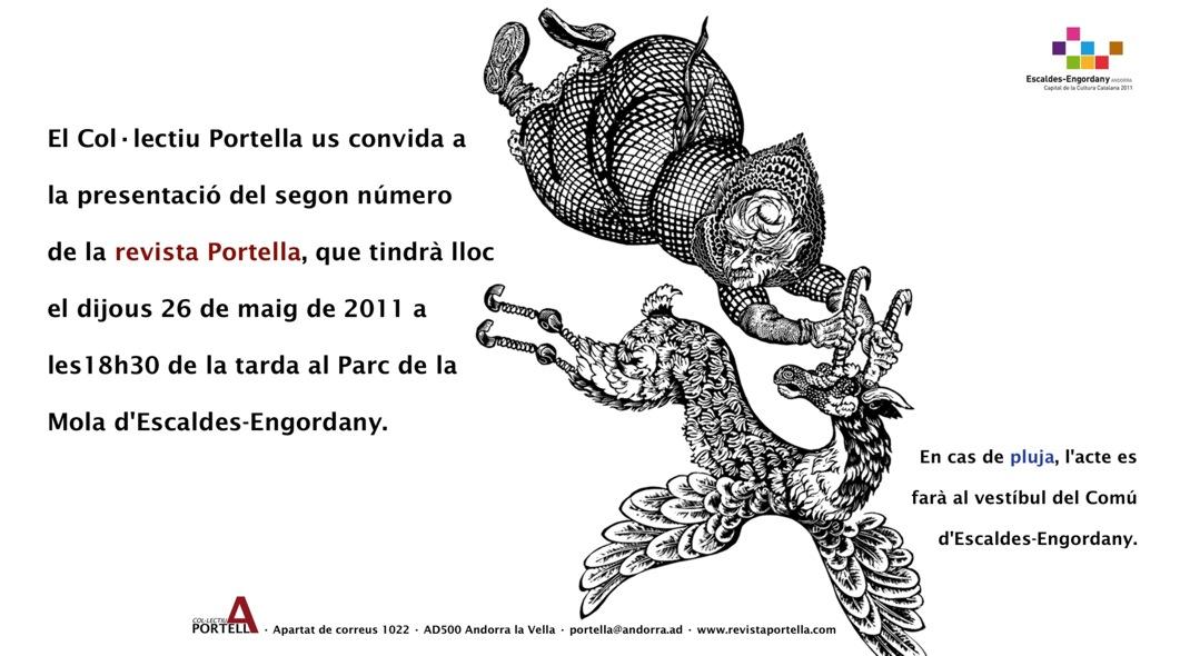 Targetó de presentació de la Revista Portella núm.2.