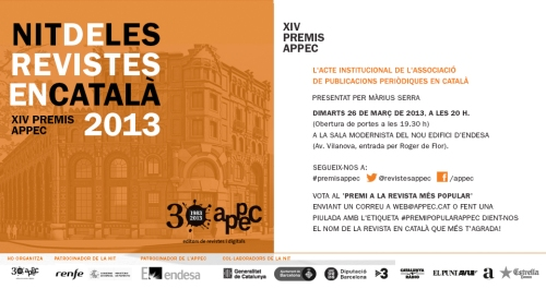 Revista Portella serà present a la nit de les revistes en català que organitza l'APPEC.